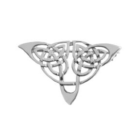 Celtic Knotwork Silver Plated Brooch 9161